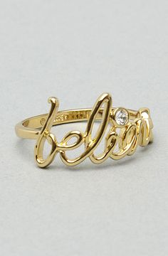 Disney Couture Jewelry TheBelieve Ring in Gold
