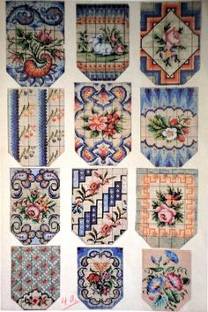 Woolwork Patterns For Victorian Beaded Purses