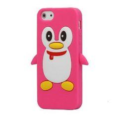 Cute Penguin (Rose) Silicone Case for Apple iPhone 5 #iphone5 #iphone5 #iphone5