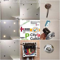 A morning work! Just installed recessed lighting to a bathroom in a large house I'm updating at the moment. Now time to start on the landing lighting.  #Wirral, #electrician, #LED