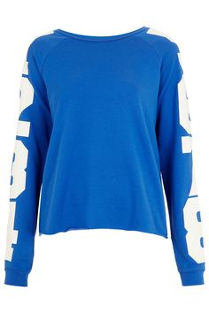 Number Sleeve Sweat - Jersey Tops - Clothing - Topshop USA