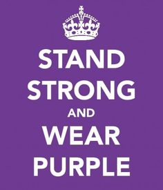 Stand strong & wear purple for Domestic Violence Awareness Purple Love, All Things Purple, Shades Of Purple, Periwinkle, Purple Stuff, Wear Purple Day, Wearing Purple, 50 Shades, Pancreatic Cancer Awareness