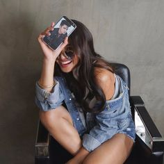 nice The Six Repair: Denim Diaries With Anne, Nadine, and Liza—The Textile That Switches Moods Like You Do Nadine Lustre Ootd, Nadine Lustre Fashion, Nadine Lustre Outfits, James Reid Wallpaper, Lady Luster, Filipina Actress, Creative Shot, Cute Girl Photo, Child Actresses