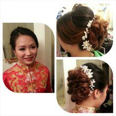 Bridal hairstyle (Hair By Myo Lai)