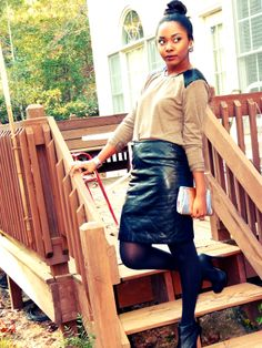 Classy leather ootd. Full outfit details on the blog www.herrunwayy.blogspot.com