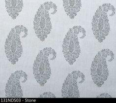 Indus in Stone from Peter Dunham Textiles #gray #paisley #acrylic #textiles #fabric #interiordesign #designinspiration #thetextilefiles #clothandkindinteriordesign #peterdunham