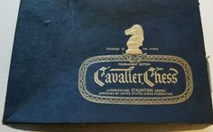 VINTAGE CAVALIER CHESS WOOD STAUNTON CHESSMEN , COMPLETE SET , ORIG.BOX, NICE! #CavalierChess