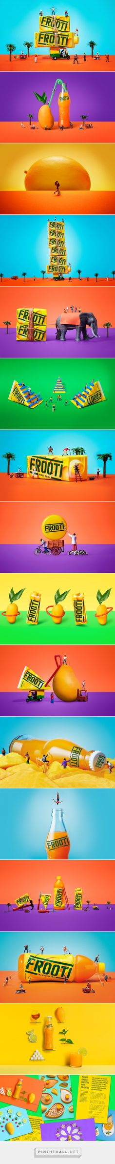 Frooti  via Sagmeister & Walsh curated by Packaging Diva PD. Start your week with colorful a packaging smile : )