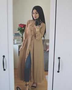 Long open cardigans hijab style – Just Trendy Girls Abaya Fashion, Muslim Fashion, Modest Fashion, Fashion Dresses, Muslim Dress, Hijab Dress, Hijab Outfit, Mode Abaya, Modele Hijab