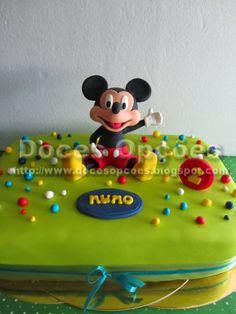 Doces Opções: Bolo de aniversário do Nuno com o Mickey