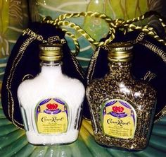 Crown Royal set of salt and pepper shakers mini by PuzzlingPurpose