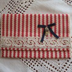 Pochette de sac étui de portable en toile à espadrille