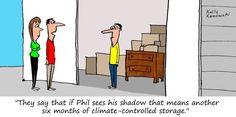 A Groundhog Day tradition! #FunnyFridays #cartoon #selfstorage #groundhogday