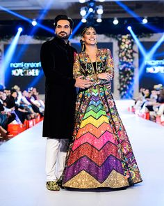 Nomi Ansari Bridal Collection Lehnga and kurti are the ideal wears for Pakistani bridals since it looks conventional. Latest Bridal Dresses, Bridal Outfits, Fashion Week 2016, Bridal Fashion Week, Pakistani Bridal Wear, Pakistani Dresses, Bridal Lehenga, Bridal Collection, Dress Collection