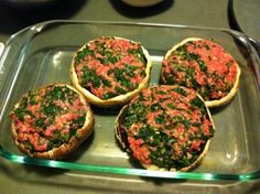 Merle's healthy Stuffed Portabellos
