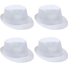 3cfe24b79df Fedora Hat Wedding Dress Formal MEN WOMEN WHITE CAP FASHION SUMMER  VALENTINES