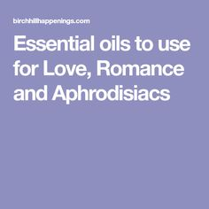 Essential oils to us