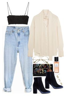 """""""NYFW Style Inspo"""" by samikayy76 ❤ liked on Polyvore featuring Levi's, Gianvito Rossi, Yves Saint Laurent, Topshop, Alexander McQueen and ADAM"""