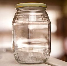 How to Sterilize Bottles and Jars for Canning. Fruit, vegetable, and meat preserves keep for a long time if properly prepared and canned. It's important to sterilize the jars and bottles before canning so that the food doesn't get. Diy Cleaning Products, Cleaning Solutions, Cleaning Hacks, Bottles And Jars, Mason Jars, Canning Jars, Remove Sticky Labels, Removing Labels, Homekeeping