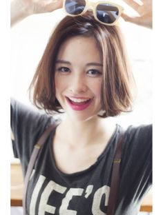 Korean bob hairstyles equal with trendy and creative hairstyles, and often with minimal styling you can get maximal appearance. The soft straight hair is. Bob Hairstyles 2018, Angled Bob Hairstyles, Long Bob Haircuts, Short Hairstyles For Women, Korean Hairstyles, Hairstyle Short, Medium Hair Styles, Curly Hair Styles, Asian Hair