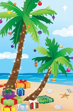Accent Flag - Tropical Christmas