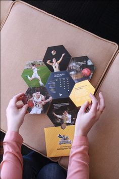 An innovative self-mailer marketed towards Cedarville University alumni and past athletes created by Amy Ruiz-Bueno, Ashley Worsham, and Taylor Schlabach.