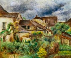 Pierre-Auguste Renoir-The small village Essoyes in France, where he resided.