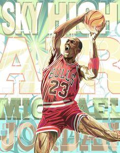 Michael Jordan 'Sky High' Illustration