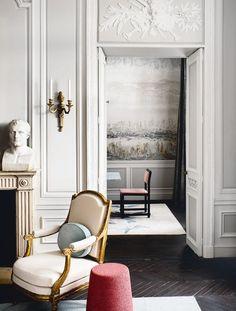 Apartment Interior, Apartment Design, Jean Louis Deniot, Neoclassical Interior Design, Van Der Straeten, Classic Interior, Classic Furniture, Interior Design Living Room, Art Deco