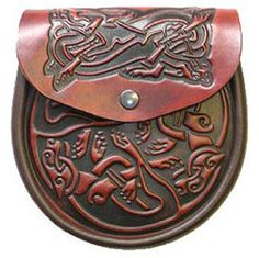 Picture of Sporran Style Handbag, Celtic Leather, Celtic Dog