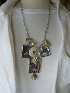 Soldered Charms Necklace Charmed Vintage PARISIAN by Margolinn, $72.00