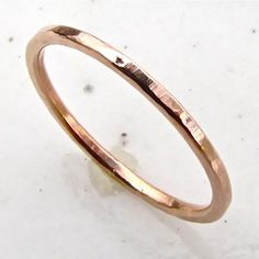 rustic rose gold band