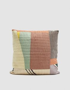 Living Textiles Thompson Street Studio Landscape Quilted Pillow in Multi Patchwork Pillow, Quilted Pillow, Pottery Barn Teen Bedding, Black Bed Linen, Landscape Quilts, Cushion Fabric, Couture, Soft Furnishings, Quilting Projects