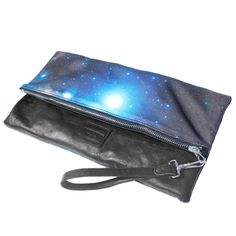 Ghoul Nebula Leather Clutch, Zip Pouch via Etsy