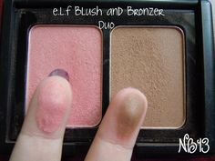 This is a duo by Elf cosmetics. You can order this for $3.00 off of their site and the blush is a perfect Nars Orgasm dupe!