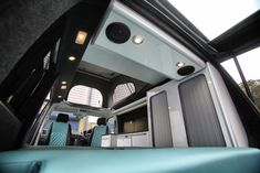 Evo designs 4 or 5 seater camper conversion , is our unique family camper van with an extra wide seat bed, providing 2 rear seats . Vw Conversions, Sprinter Conversion, Camper Van Conversion Diy, General Motors, Land Rover Defender, Vw T5 Caravelle, T5 Camper, Camper Kitchen, Campervan Interior