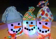 These fun and inexpensive Milk Jug Snowmen will look great decorating your home this Christmas and they're a great recycling project for th...