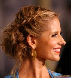 braid and messy side bun! love it.