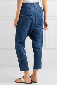 Bassike - Super Lo Slung Cropped Boyfriend Jeans - Blue - 26