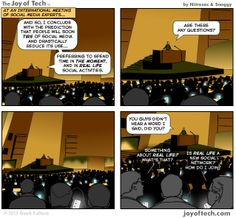 "Joy of Tech: ""Social Media is so over!"" (Comic) by @Nitrozac & @Snaggy #GeekCulture #SM"