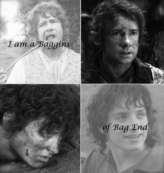 I am a baggins of bag end. Bilbo Baggins. Frodo Baggins. Hobbits. the Shire. the Lord of the Rings. LOTR. Neth Ohtar Edit