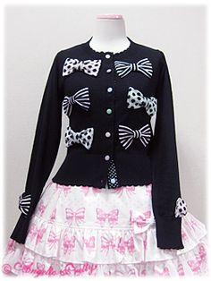 Colorful Pop Ribbon Knit Cardigan