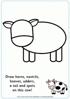 Letter C is for Cow coloring page from Letter C category Select Alphabet Crafts by Ashley