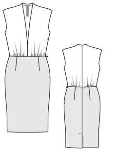 V-Neck Dress 08/2012 #126 from BurdaStyle Magazine