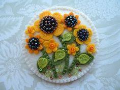 beaded sunflowers