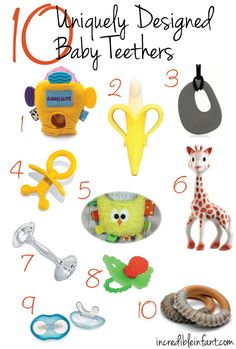 10 Unique Designed Baby Teethers