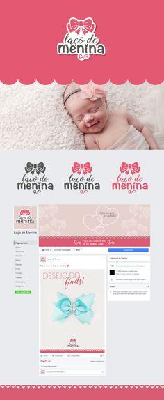 Logo e facebook para Laço de Menina em Tubarão - SC.