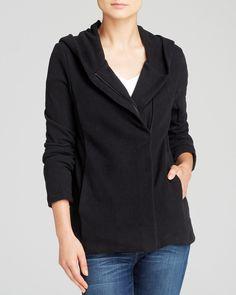 James Perse Jacket - Hooded Fleece Zip | Bloomingdale's