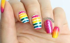 ✔ Easy Nail Art HOW-TO:  Dotted Lines  ✔