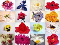 CROCHET FLOWER PATTERNS – 365 Crochet Flowers Bouquet Project by cathryn